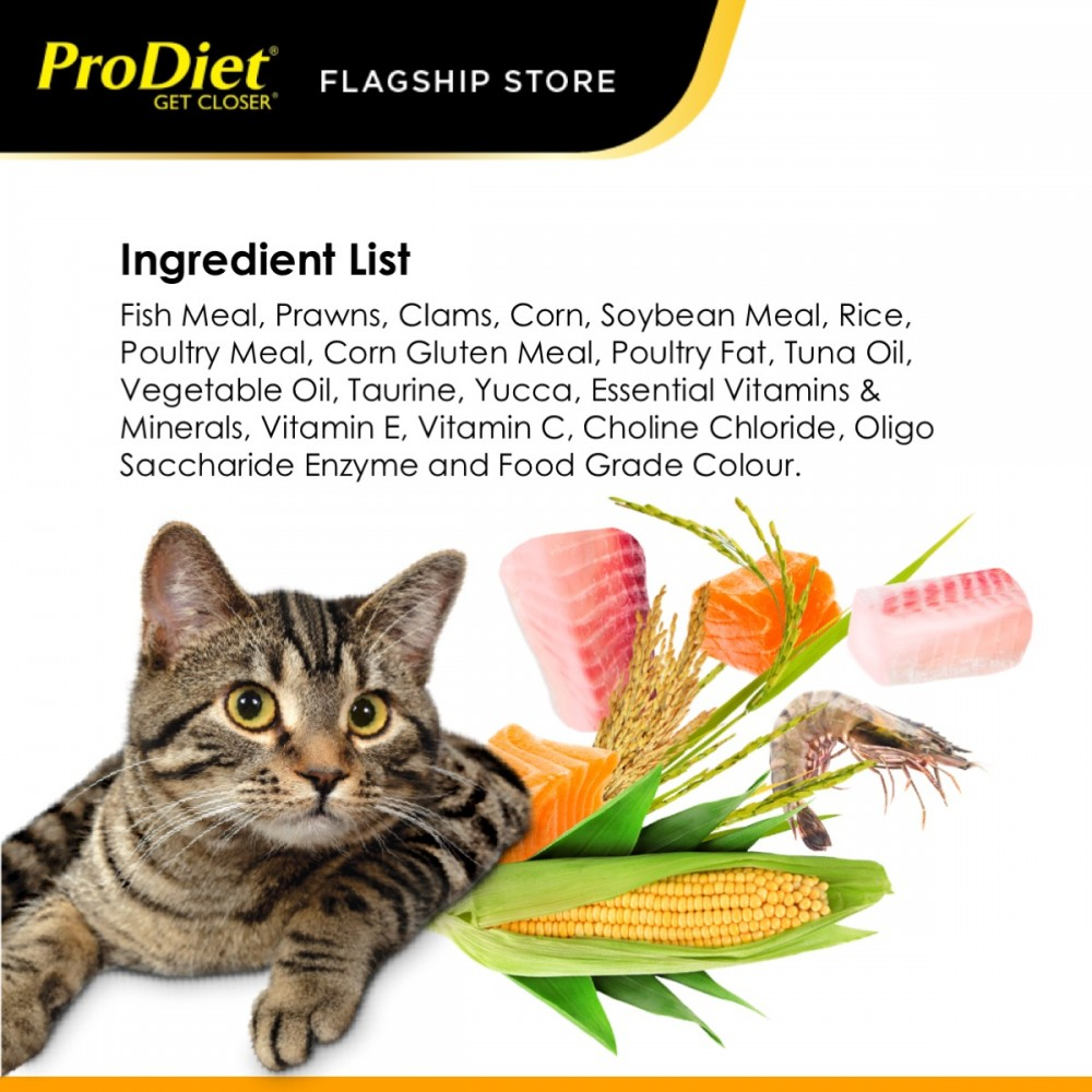 ProDiet 1.5KG Gourmet Seafood Dry Cat Food