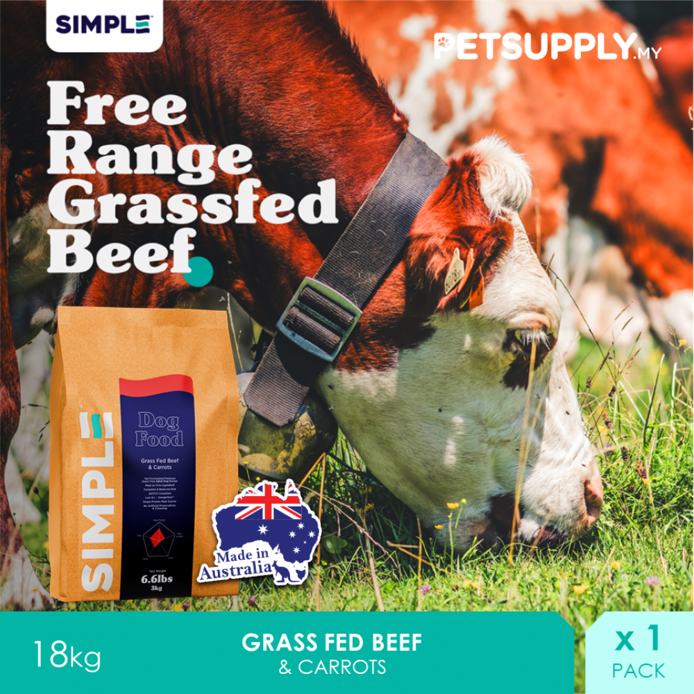 SIMPLE Grass Fed Beef & Carrots 18KG