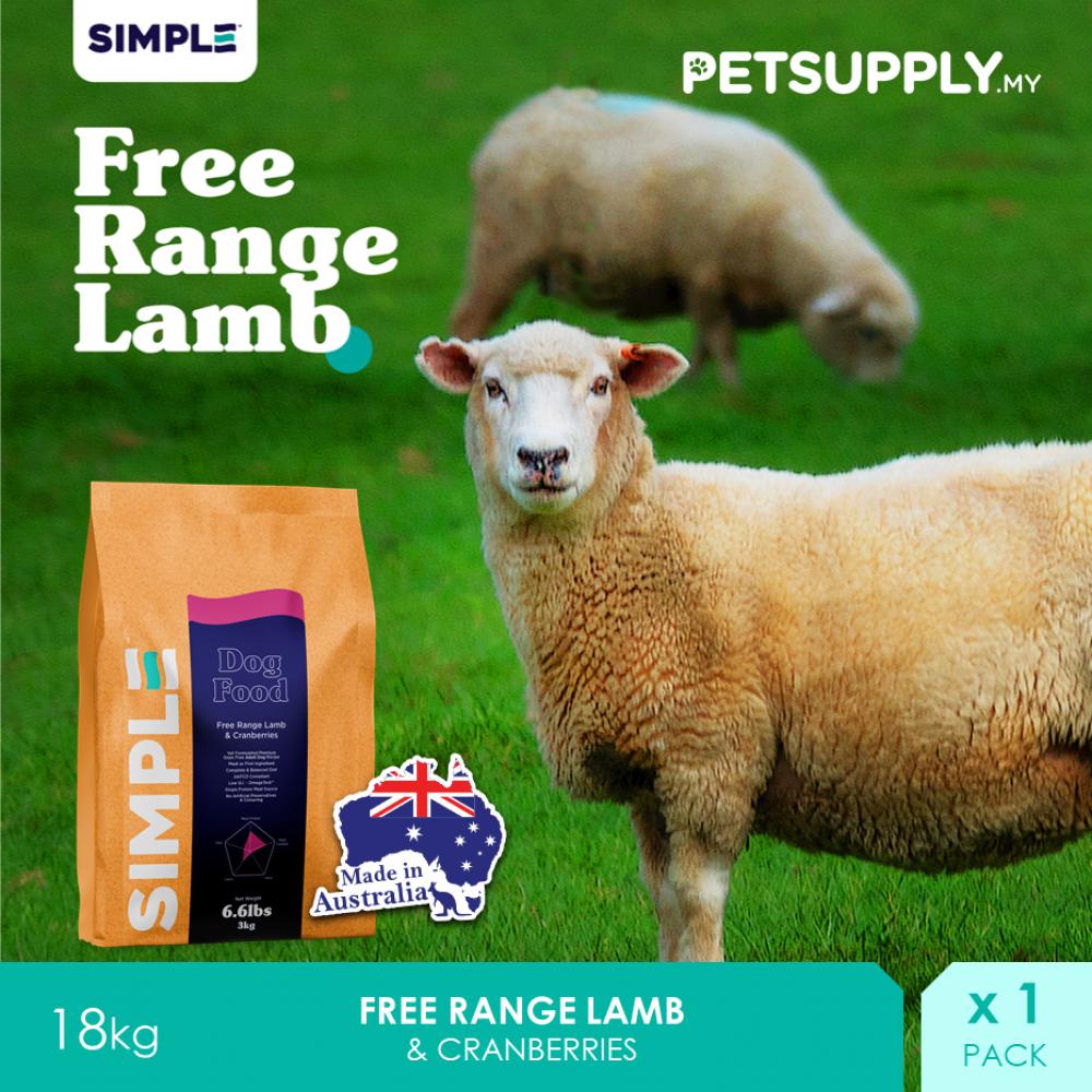 SIMPLE Free Range Lamb & Cranberries 18KG
