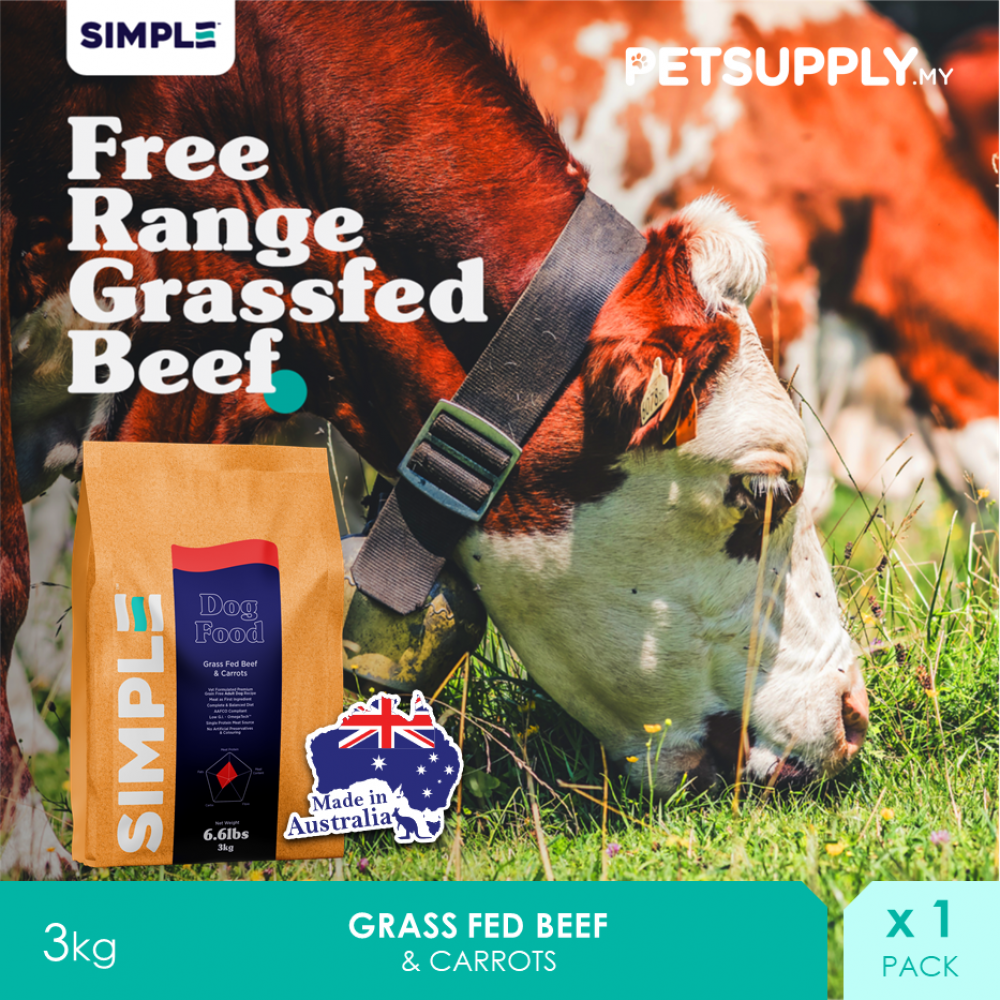 SIMPLE Grass Fed Beef & Carrots 3KG