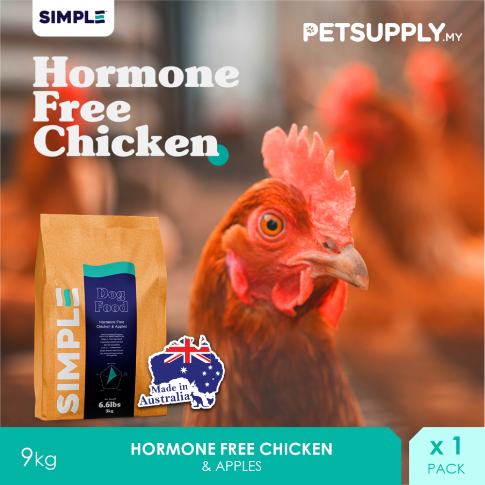 SIMPLE Hormone Free Chicken & Apples 9KG