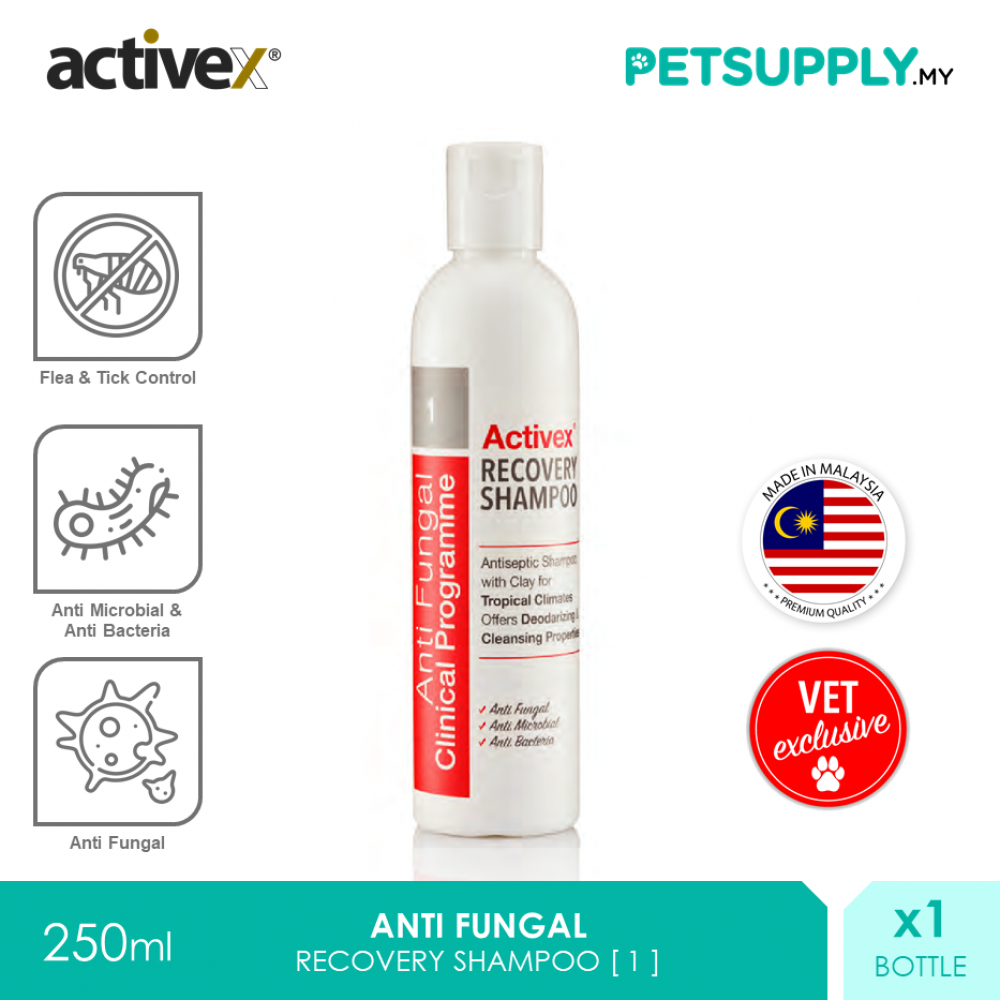 Activex Anti Fungal Antiseptic Recovery Shampoo 250ml [Pet Cat Dog Syampu Kucing Anjing - Petsupply.my]