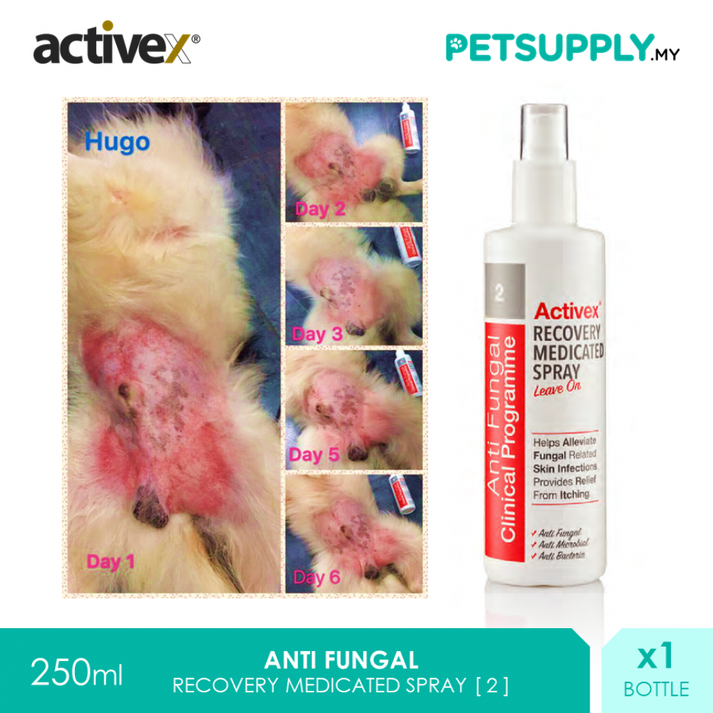 Activex Anti Fungal Antiseptic Recovery Medicated Spray 250ml [Perawatan Luka Pet Cat Dog Kucing Anjing - Petsupply.my]