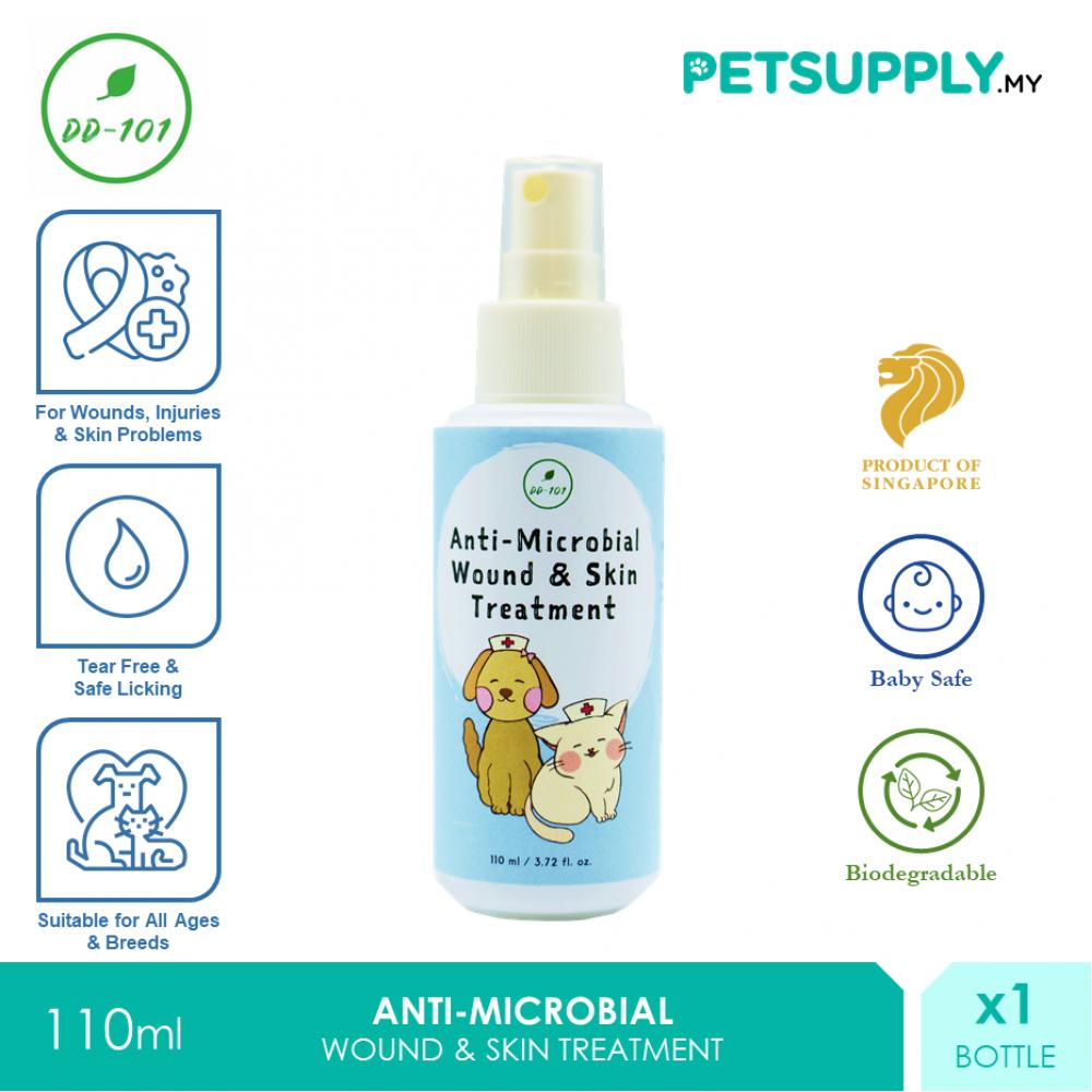 DD 101 Anti-Microbial Wound Skin Treatment Spray 110ml [Perawatan Luka Cat Dog Kucing Anjing - Petsupply.my]