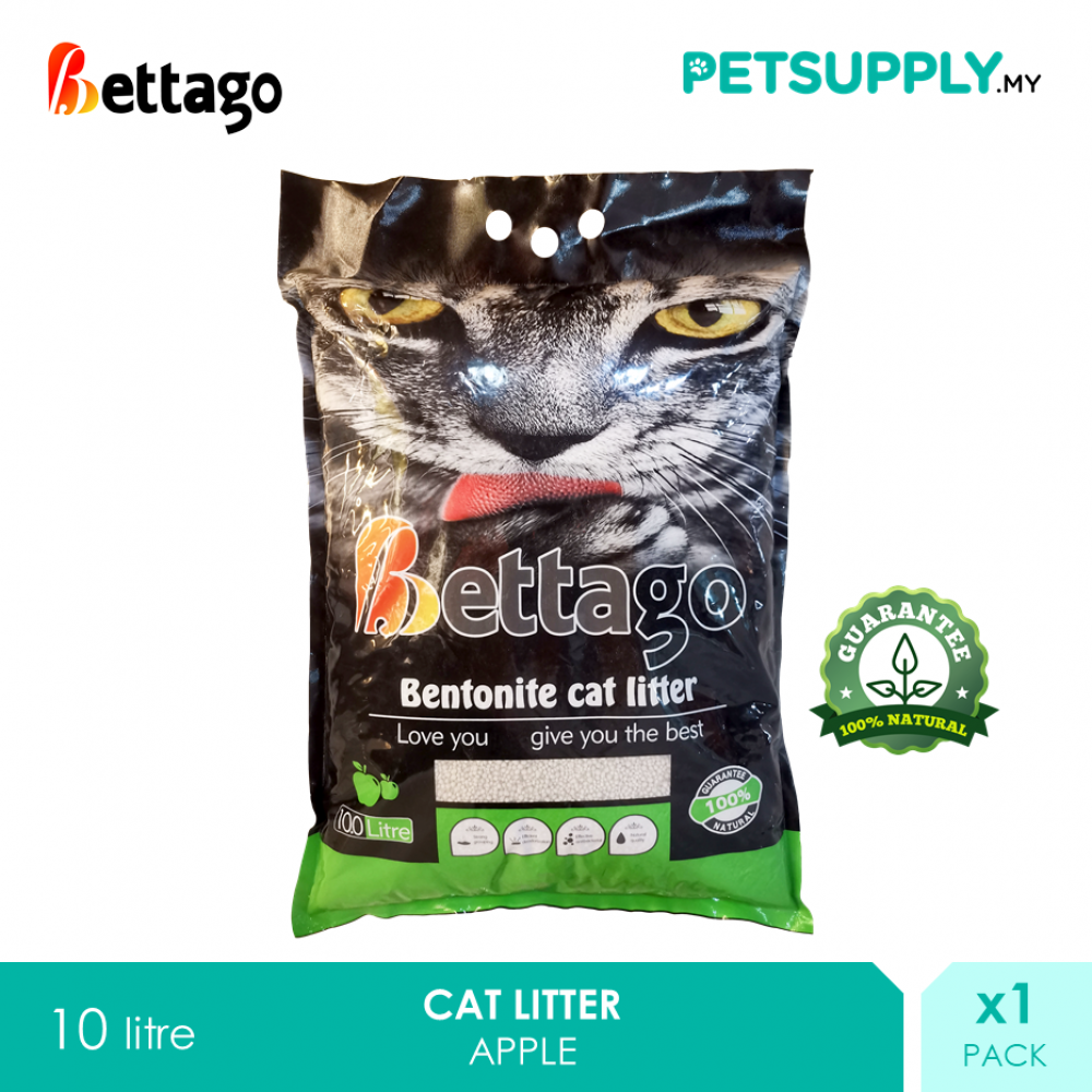 Bettago Bentonite Cat Litter Sand 10 litre - Apple