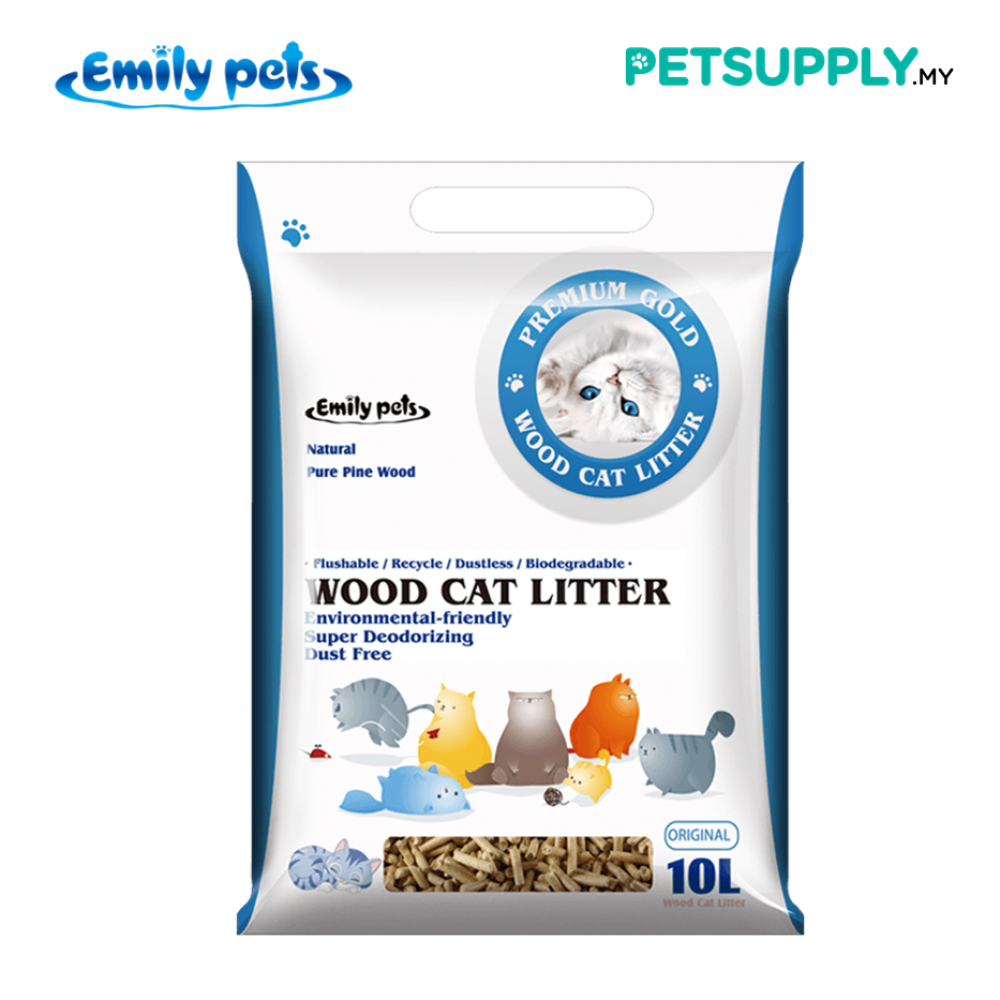 Emily Pets Natural Pure Pine Wood Cat Litter 10 Litre