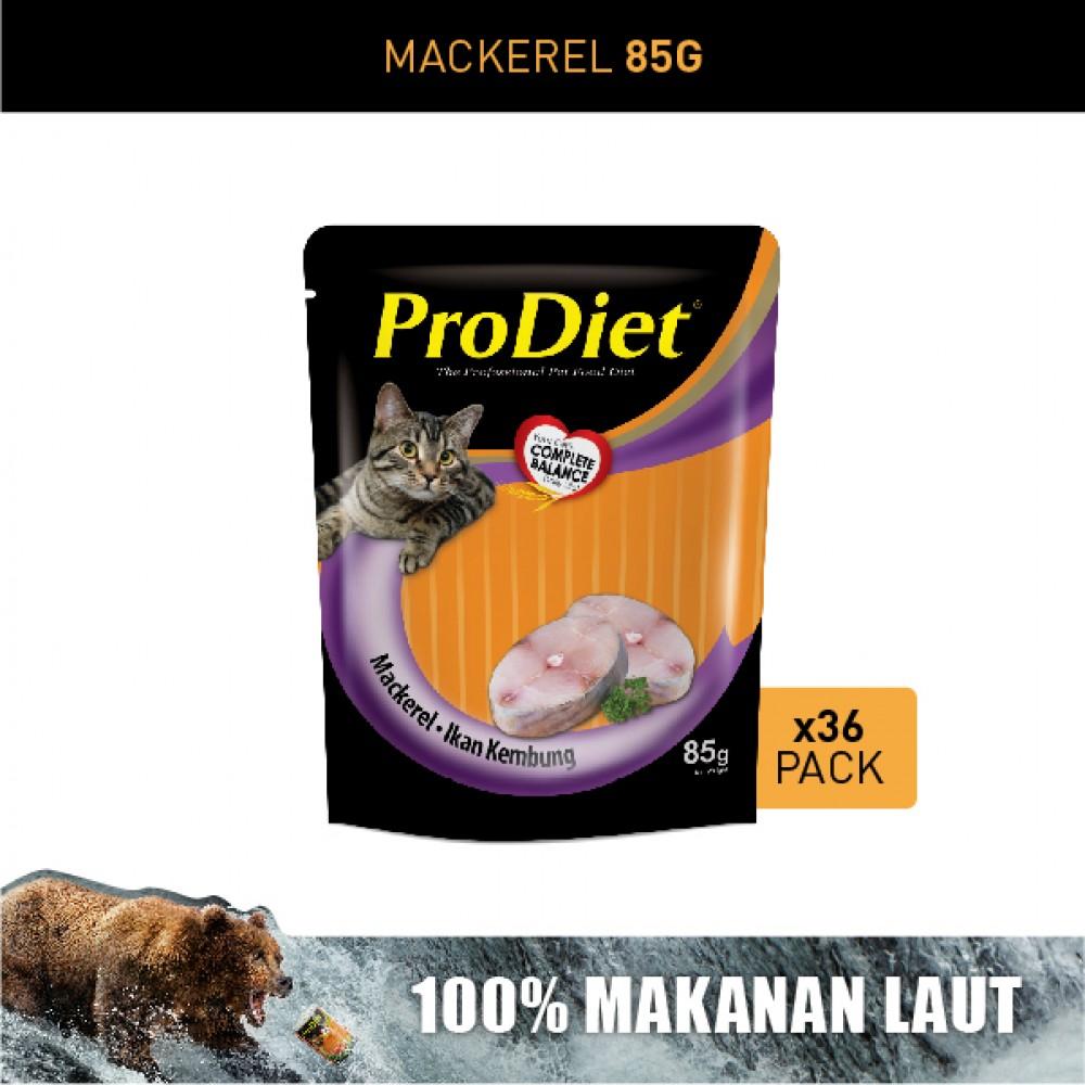 ProDiet 85G Mackerel Wet Cat Food X 36 Packs