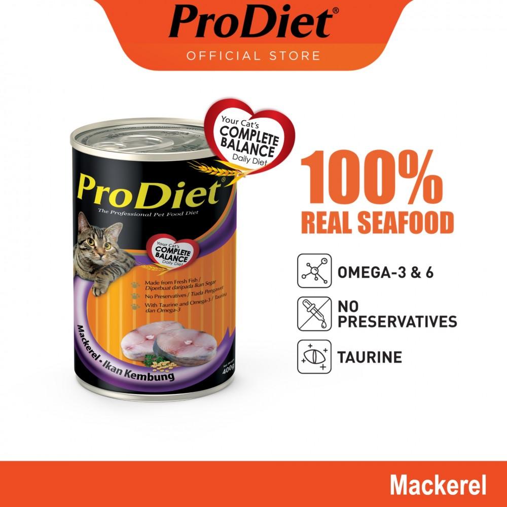 ProDiet 400G Mackerel Wet Cat Food X 1 Can