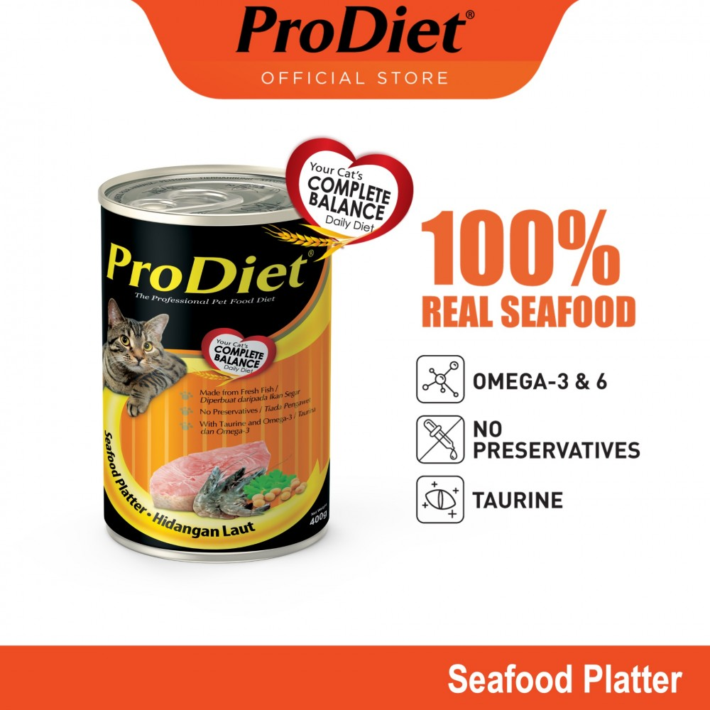 ProDiet 400G Seafood Platter Wet Cat Food X 1 Can