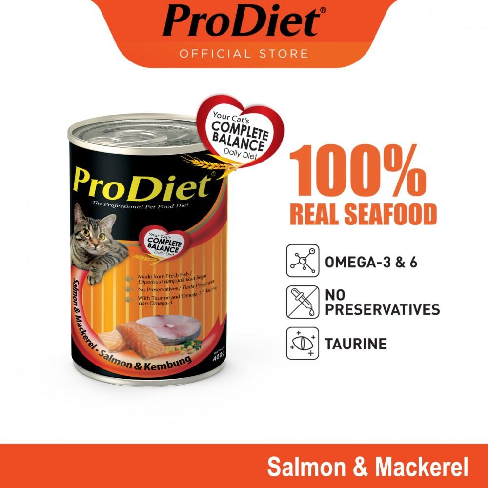 ProDiet 400G Salmon & Mackerel Wet Cat Food X 1 Can