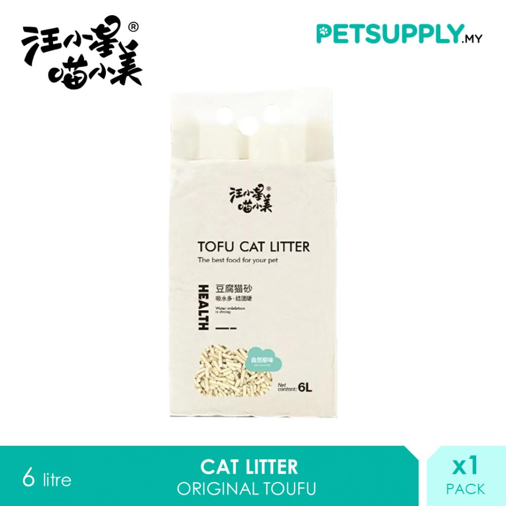 TOUFU Natural Cat Litter 6 litre Soya Bean
